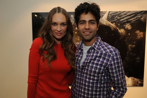 Adrian Grenier celebrated Amber Arbucci's photograph unveiling at Art Basel 2013