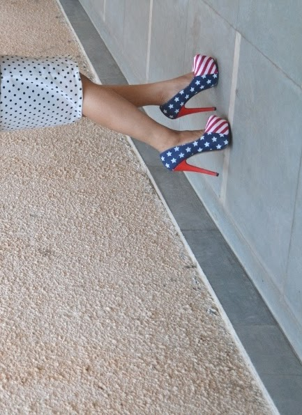 flag print pumps/shoes trend 2013
