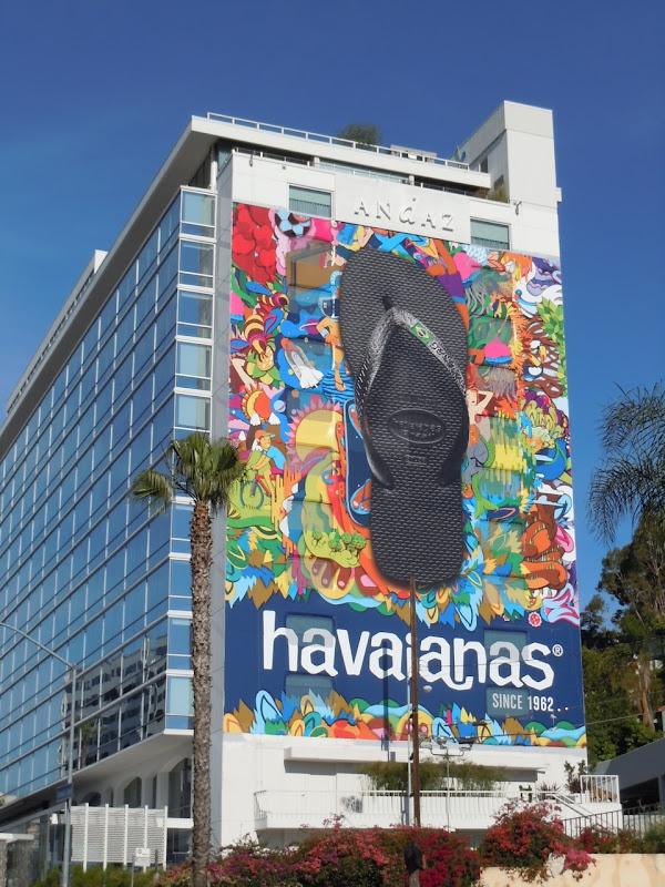 Havaianas flip flops Andaz Hotel billboard