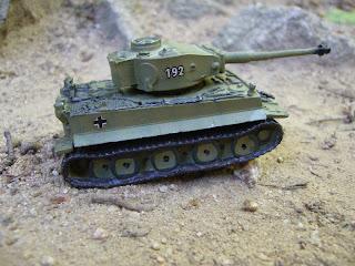 tanque en miniatura Tiger I diecast