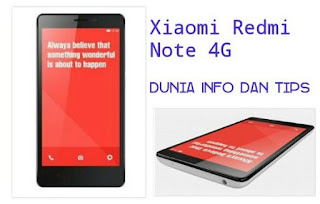 Ulasan Sfesifikasi dan Harga Xiaomi Redmi Note 4G