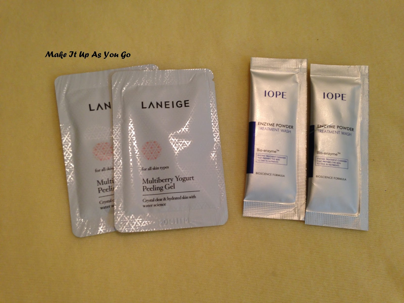 Make It Up As You Go: Sample Bin Review - Missha, Laneige & IOPE