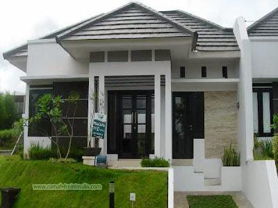 Rumah Minimalis warna hitam dan putih bagus