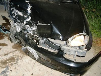 Acidente com carro de Lourinho