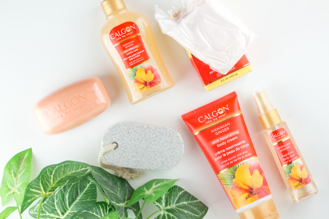 calgon take me away hawaiian ginger relax and pamper me gift set review