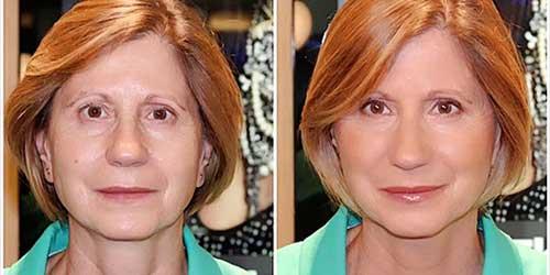 Maquillaje antes y despues para pieles maduras