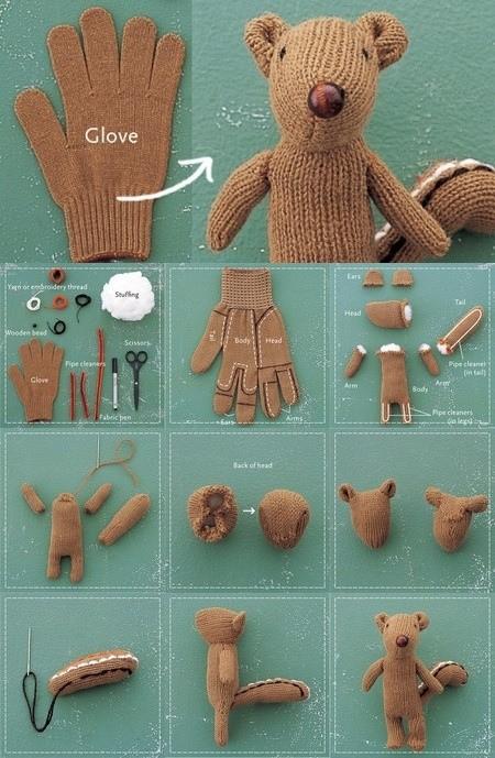 hacer un osos con un guante