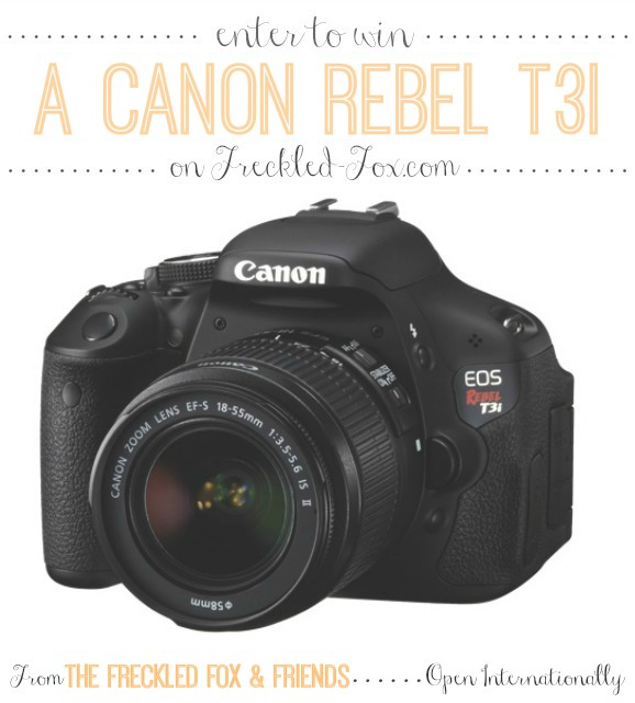 Canon Rebel T3i and Accessory Package Giveaway
