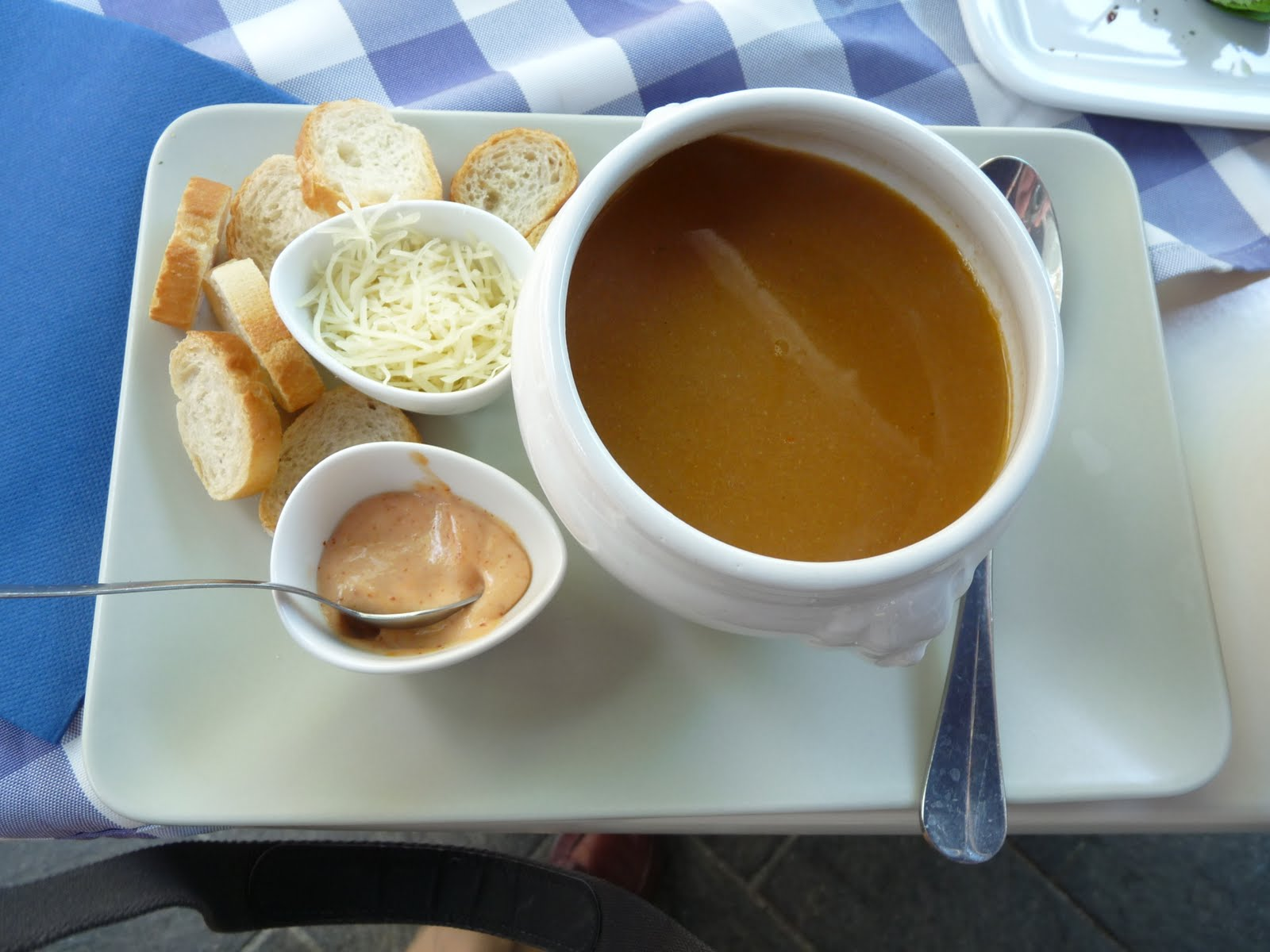 ... rouille - Provençal style Fish Soup with saffron, chile mayonnaise