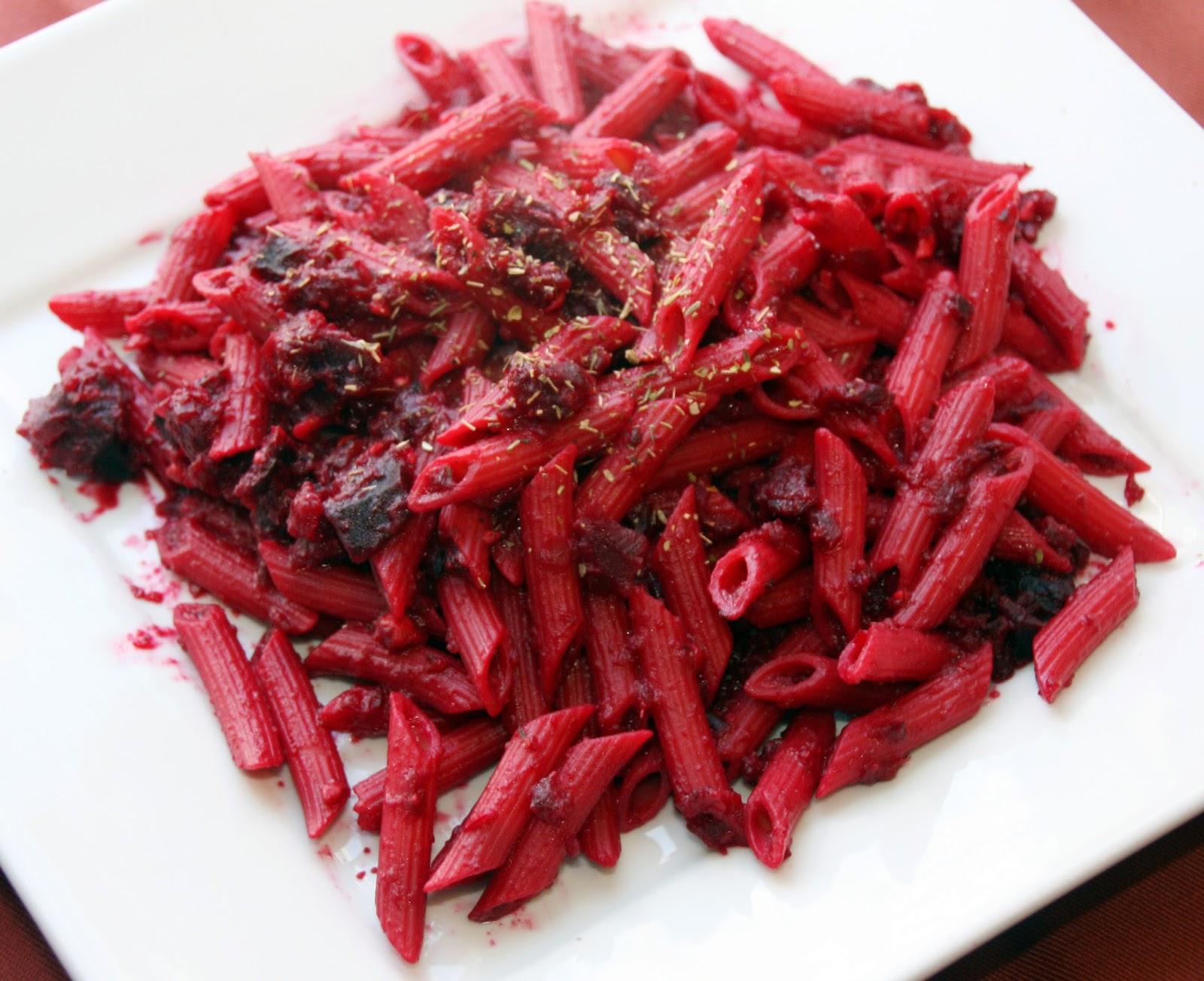 Roasted beet pasta sauce