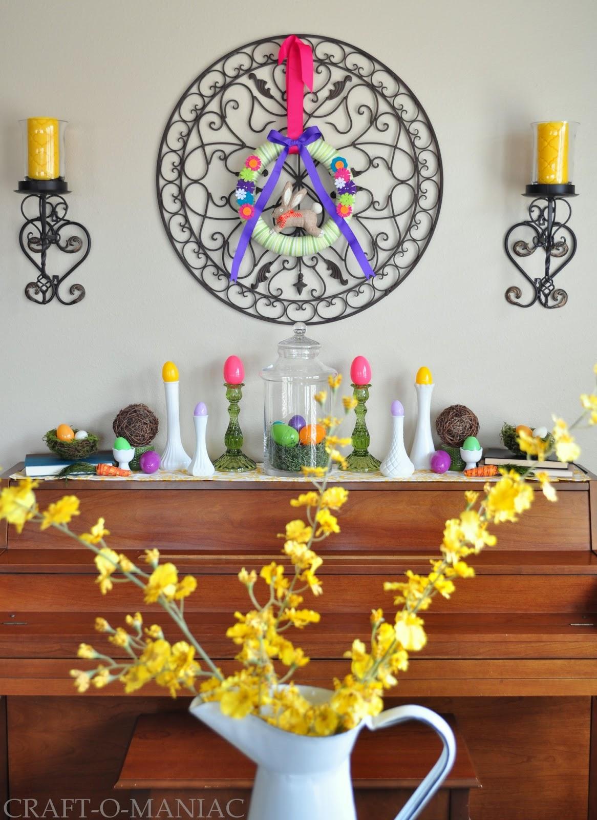 Home Decor Easter Decorated Piano Craft O Maniac