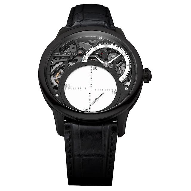 Maurice Lacroix Masterpiece Seconde Mystérieuse Watch black