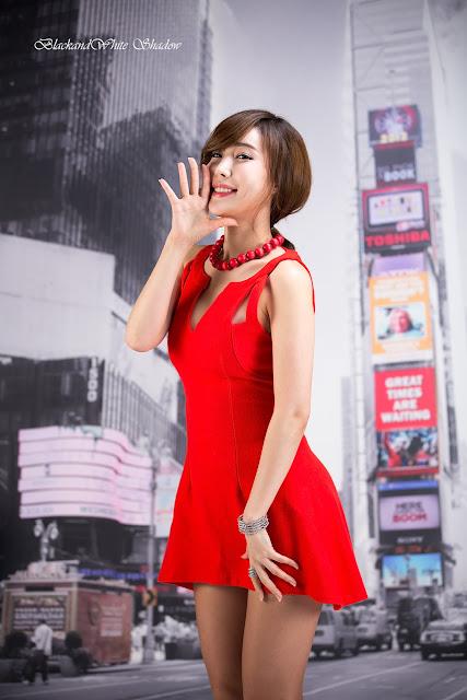 3 Hot Red - Im Min Young - very cute asian girl - girlcute4u.blogspot.com