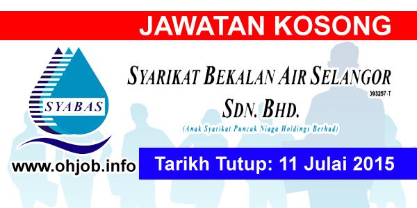 Jawatan Kerja Kosong Syarikat Bekalan Air Selangor (SYABAS) logo www.ohjob.info julai 2015