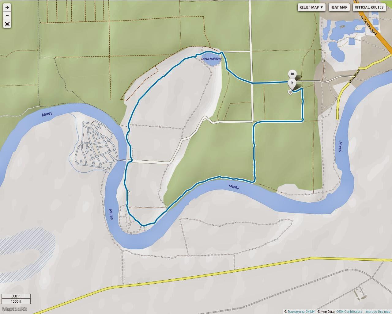 Duatlonul Aradului. 1 noiembrie 2014. Parcul Natural Lunca Mureșului, Centrul de vizitare Ceala. Ruta cilcism 6.5km