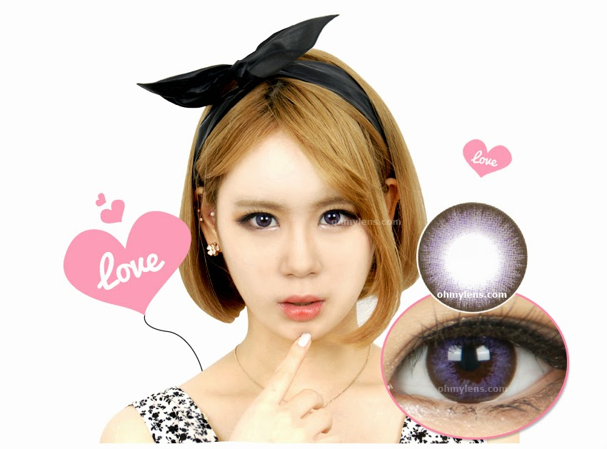 Chiffon Violet Contact Lenses for Farshightedness / Hyperopia