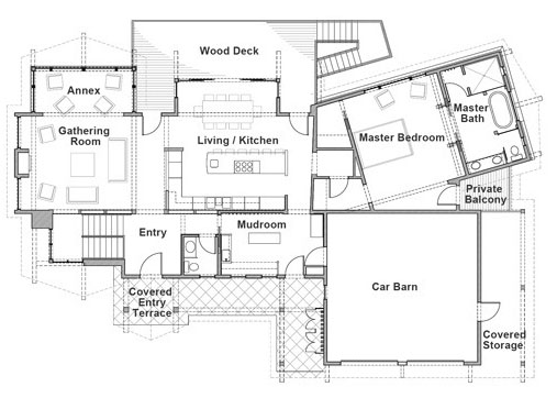 Second-Floor Laundry Room (HWBDO11230) | Cottage House Plan from