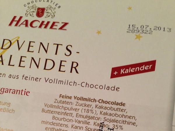 glutenfreie Schokolade von HACHEZ
