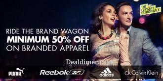 Clothing, Footwear & Accessories @ 50% off or more – FlipKart