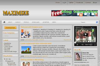 Maximize Blogger Template