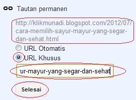 URL Khusus