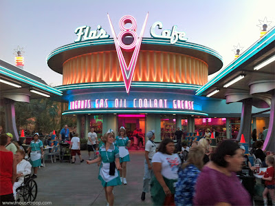 Cars Land Carsland Flo's DCA Disney California Adventure