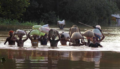 Inundaciones por lluvias en India, 05 de Noviembre 2012