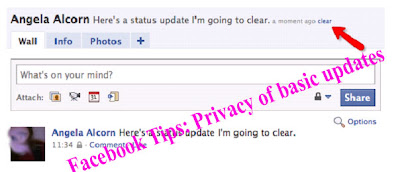 Facebook Tips: Privacy of basic updates
