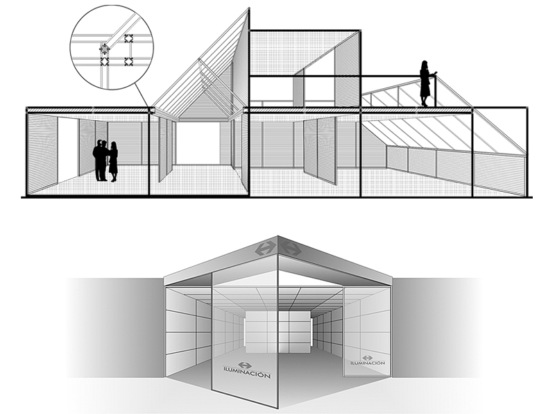 FIAM structural framing system application examples. Design by Somerset Harris