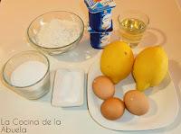 Bizcocho de limón fácil.