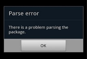 what to do when parse error happens apk downloader