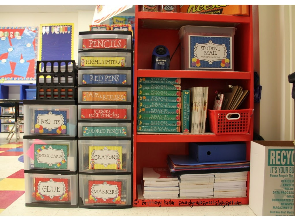 Classroom Equipment Ideas ~ Sweet seconds thematic and classroom supplies organization