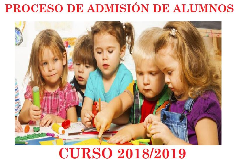ADMISIÓN CURSO 2018/2019
