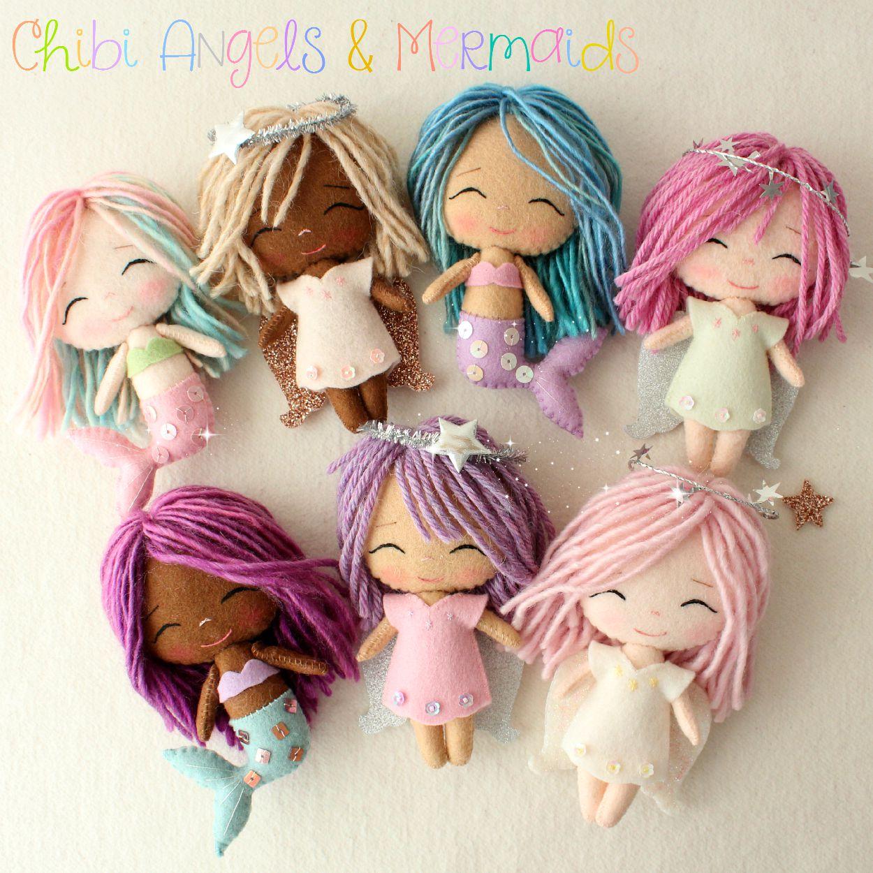 chibi angels and mermaids