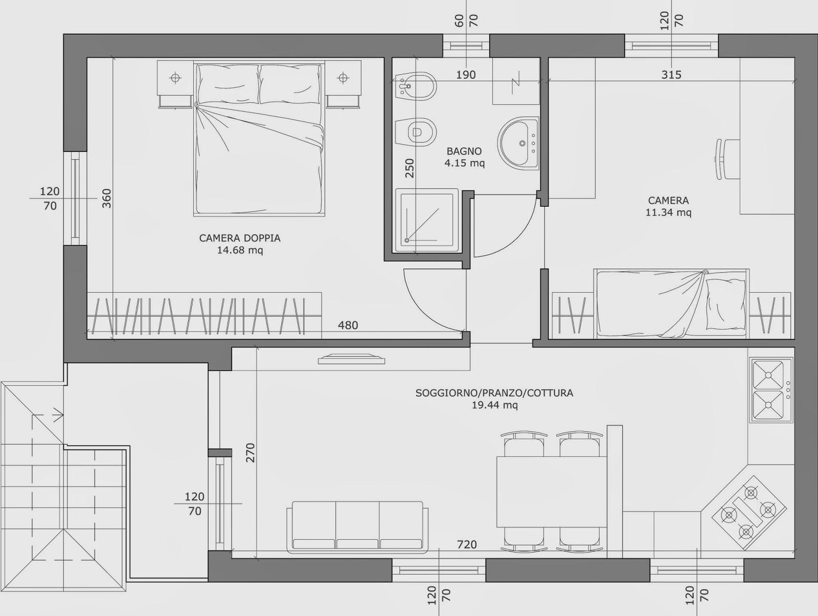 The marti 39 s loft come leggere un disegno in scala for Planimetria stanza