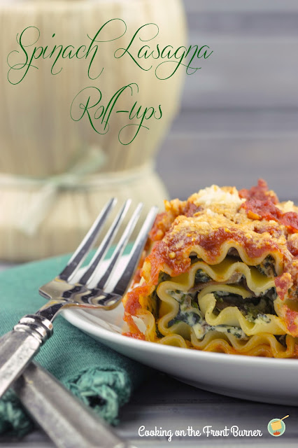 Spinach Lasaga Roll-ups | Cooking on the Front Burner #lasagna #italian