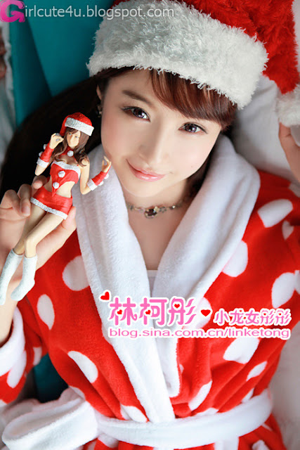 2 Linke Tong glowing Christmas Maid Princess first series-very cute asian girl-girlcute4u.blogspot.com