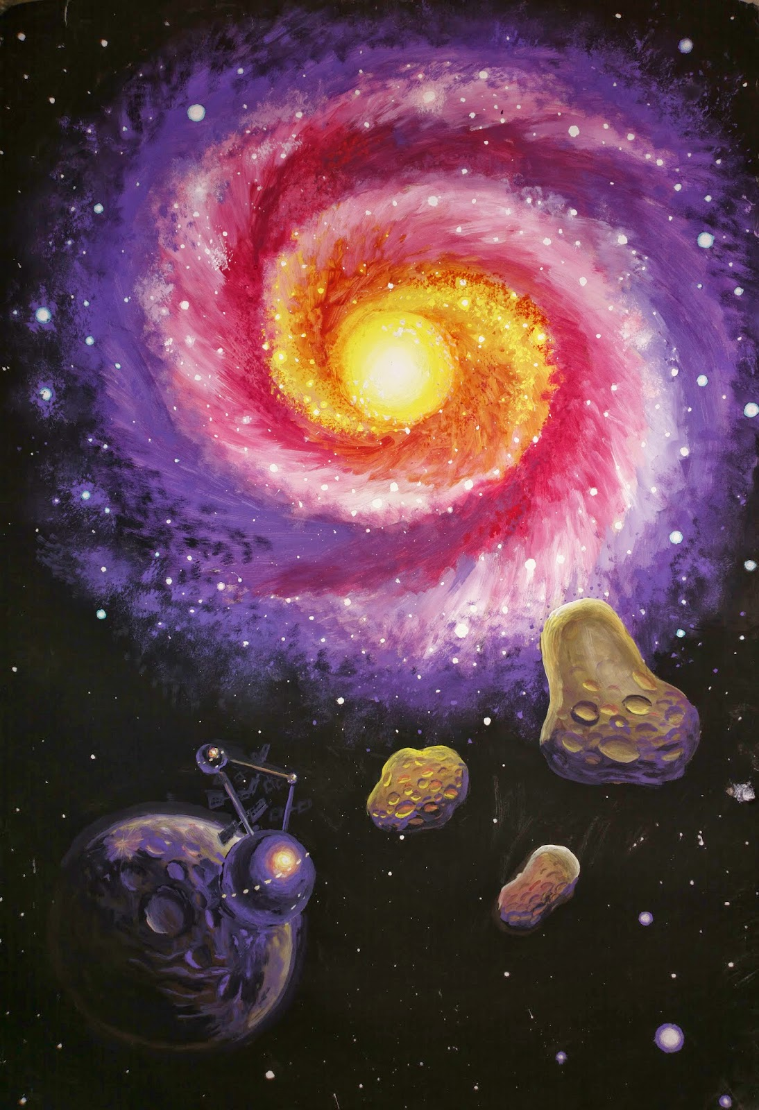 Space Galaxies and Planets Paintings high quality wallpaper