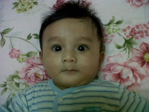 Airiel Qa'id with his new hairstyle