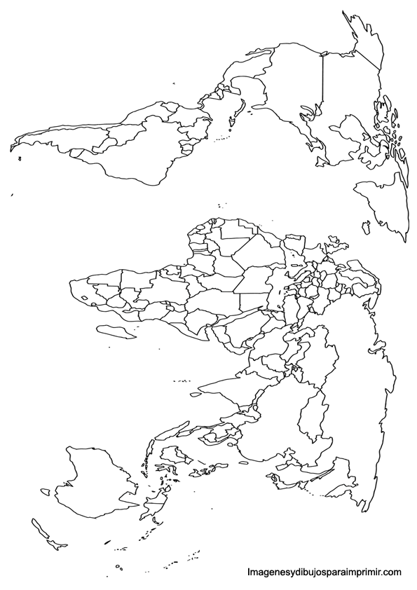 World map for printing
