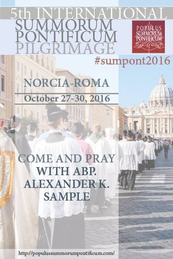 """V Peregrinatio extraordinaria 2016 """"Populus Summorum Pontificum"""""""