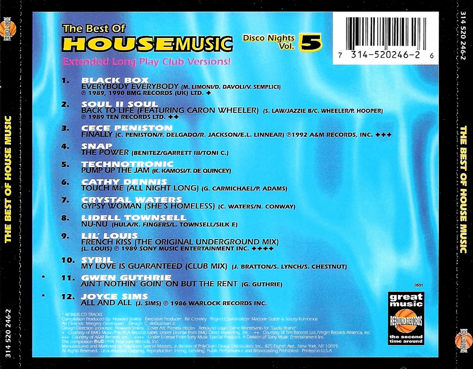 90 39 s bolivian tribute disco nights vol 5 the best of for Best 90s house music