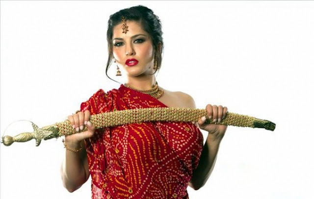 Sunny Leone in Red Dress Photo