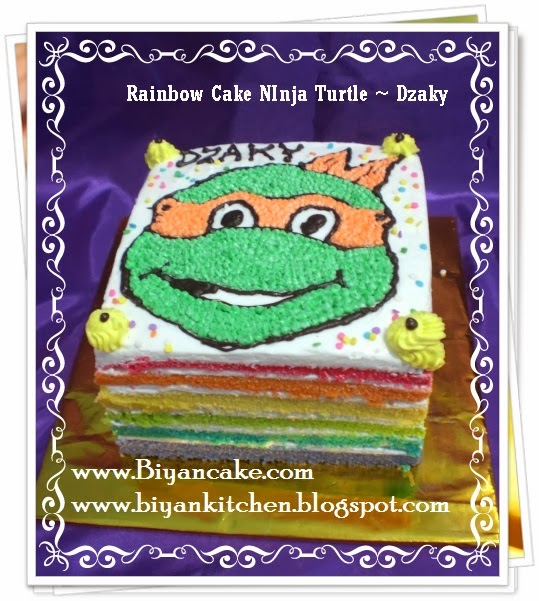 Rainbow cake Kura kura ninja ~Dzaky