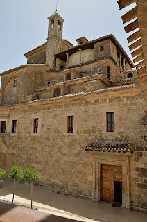 Side view of the Santuario de la Vera Cruz in Caravaca, Spain