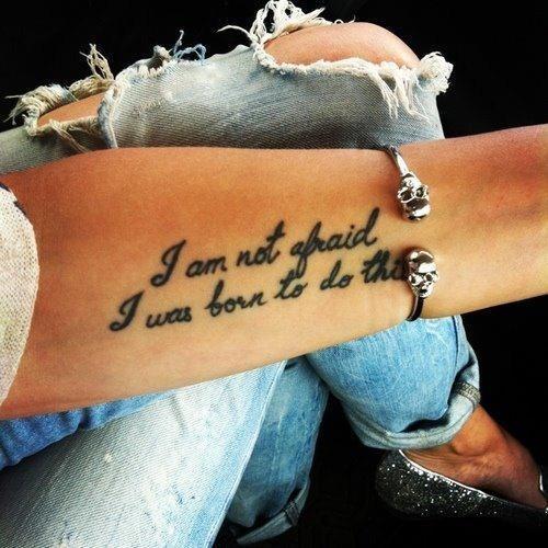 arm quote tattoos women fashion
