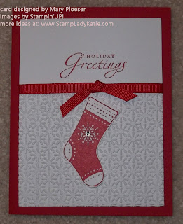 card made with Stampin'UP!'s Stocking Builder Punch