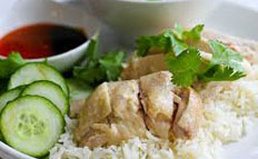 resep masakan internasional asal china nasi ayam Hainan spesial praktis, mudah, enak, gurih, lezat