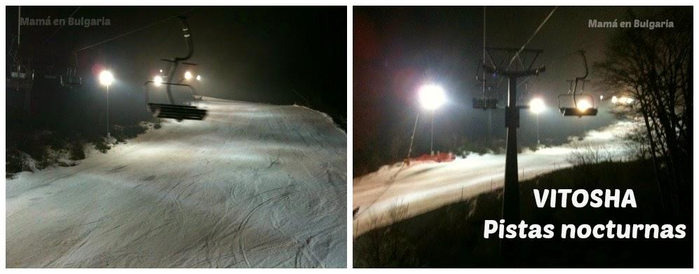 pistas de esquí nocturnas en Vitosha Bulgaria