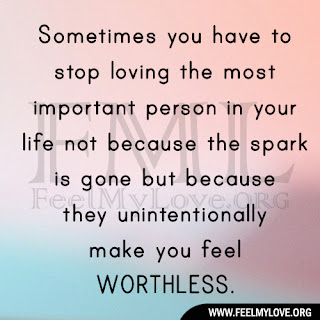 Sometimes you have to stop loving